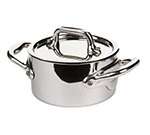 "Mauviel 5131.09 3.5"" Round M'minis M'cook Cocotte w/ .2-qt Capacity & Lid, Stainless"