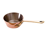 """Mauviel 6523.09 3.5"""" Round M'minis M'150b Saute Pan w/ 1.2-qt Capacity & Bronze Handle, Lid, Copper"""