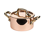 Mauviel 6531.09 3.5-in Round M'minis M'150b Cocotte w/ .3-qt Capacity & Bronze Handle, Lid, Copper