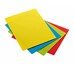 Rosle 15015 4-Space Saving Cutting Mats w/ Non Slip Reverse Side & Flexible, 9.8x13.8-in