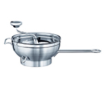 "Rosle 16252 Food Mill w/ 2-Sieve Disc & Supplementary Handle, 9.4"" Round, Stainless"