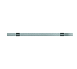 "Rosle 19451 19.7"" Kitchen Rail w/ Wall Attachment Set, Stainless"