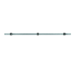 "Rosle 19453 31.5"" Kitchen Rail w/ Wall Attachment Set, Stainless"