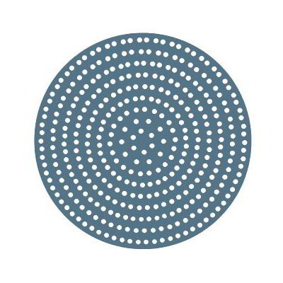 "American Metalcraft 18916SP 16"" Super Perforated Pizza Disk, No Rim, Aluminum"