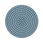 "American Metalcraft 18919SP 19"" Super Perforated Pizza Disk, Aluminum"