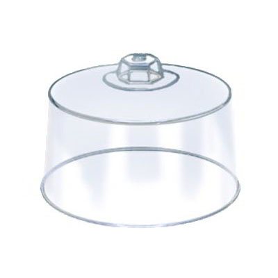 "American Metalcraft 19004 12"" Round Cake Cover, Plastic, Clear"