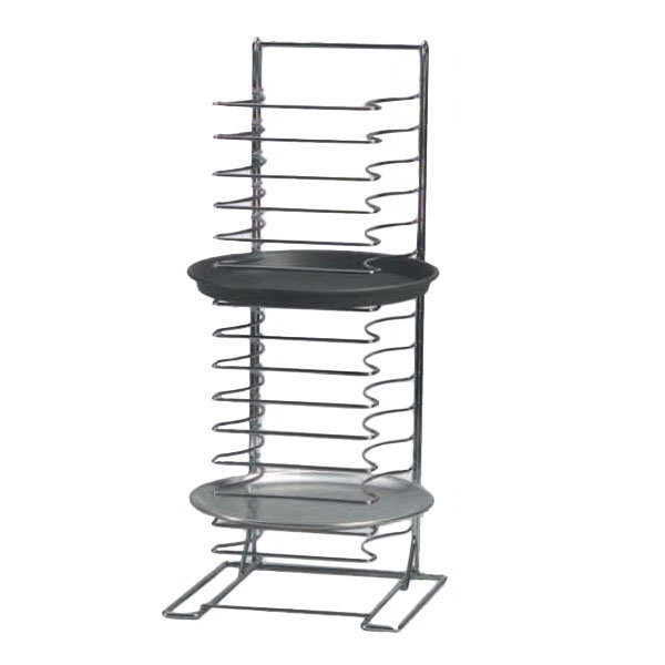 American Metalcraft 19029 Pizza Pan Rack w/ 15-Shelf Capacity, Chrome/Steel