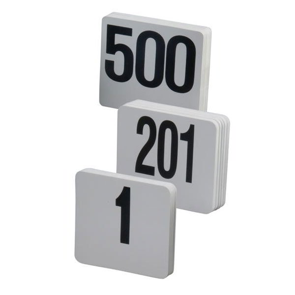 American Metalcraft 2200-CARDS Table Numbers Set, 151-200, 2 in Square, White Card, Black Numbers