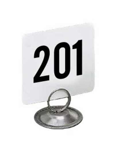 American Metalcraft 2250 Table Numbers Set, 201-250, 2 in Square, White Card, Black Numbers