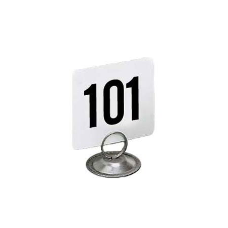"American Metalcraft 4150 Tabletop Number Cards - #101-150, 4"" x 4"", White/Black"