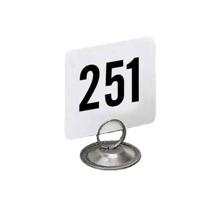 "American Metalcraft 4300 Tabletop Number Cards - #251-300, 4"" x 4"", White/Black"