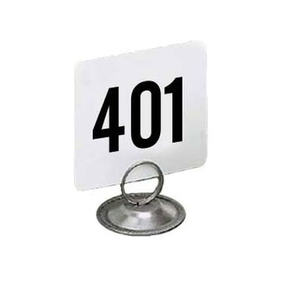 "American Metalcraft 4450-CARDS Tabletop Number Cards - #401-450, 4"" x 4"", White/Black"
