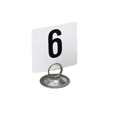 "American Metalcraft 450 Tabletop Number Cards - #1-50, 4"" x 4"", White/Black"