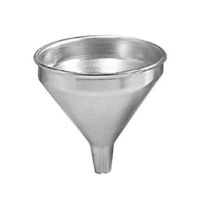 American Metalcraft 524-FUNNEL 5.25-in Funnel w/ Built-In Air Vents & Satin Finish, Aluminum