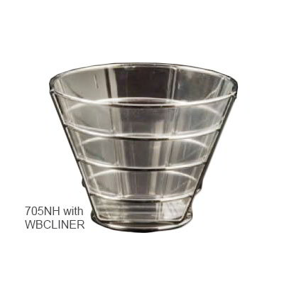 American Metalcraft 705NH Round Wire Basket, 7x5-in, Chrome
