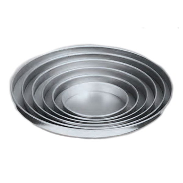 "American Metalcraft A4008 8"" Straight Sided Pizza Pan, 1"" Deep, Solid, Aluminum"