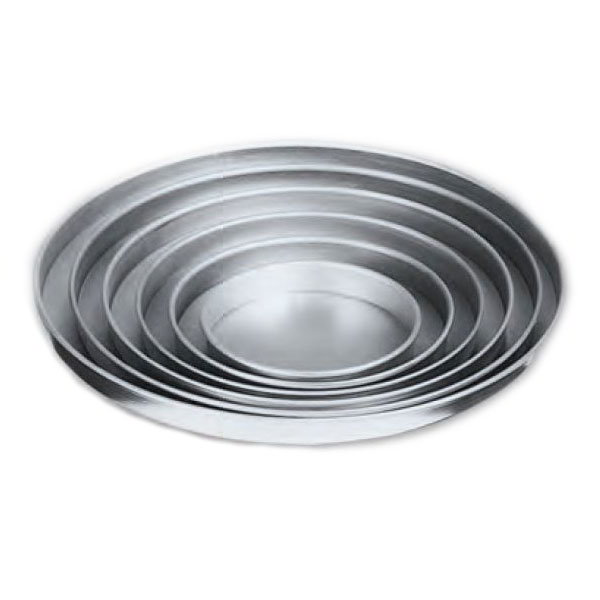 "American Metalcraft A4010 10"" Straight Sided Pizza Pan, 1"" Deep, Solid, Aluminum"