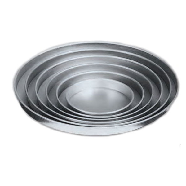 "American Metalcraft A4012 12"" Straight Sided Pizza Pan, 1"" Deep, Solid, Aluminum"