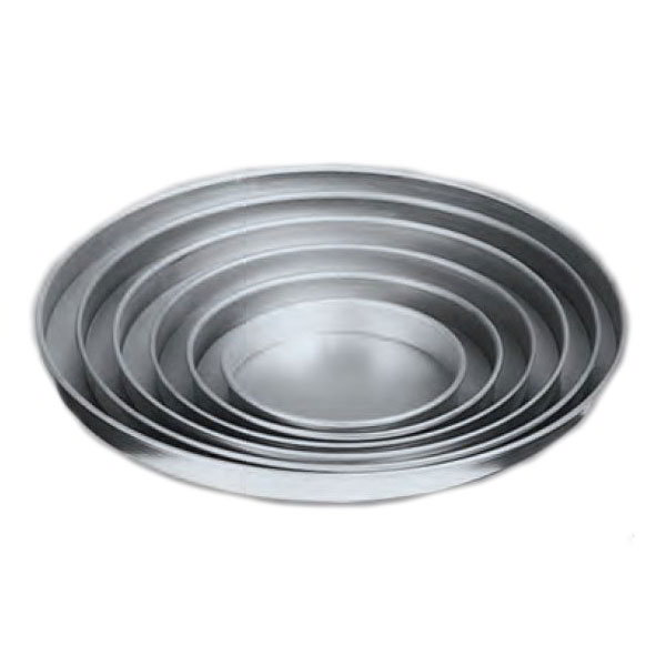 "American Metalcraft A4013 13"" Straight Sided Pizza Pan, 1"" Deep, Solid, Aluminum"