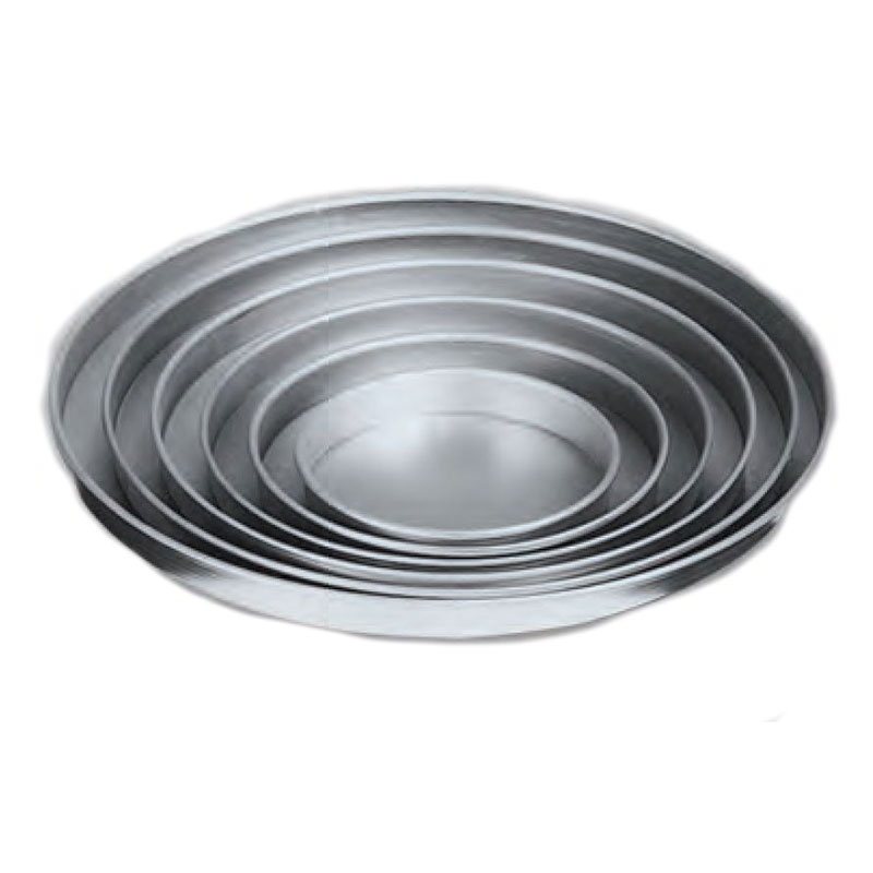 "American Metalcraft A4014 14"" Straight Sided Pizza Pan, 1"" Deep, Solid, Aluminum"