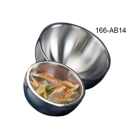 American Metalcraft AB14 Angled Bowl w/ 360-oz Capacity, Stainless