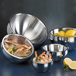 American Metalcraft AB6 Angled Bowl w/ 23-oz Capacity, Stainless