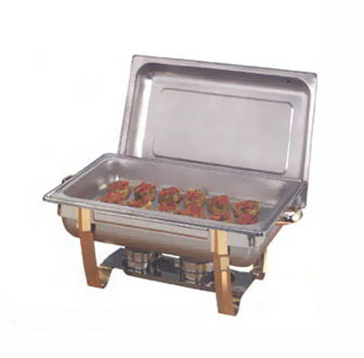American Metalcraft ALLEGRT10 Rectangular Full Size Chafer w/ 9-qt Capacity, Gold/Stainless