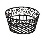 American Metalcraft BLSB93 9-in Bread Basket w/ Scroll Design, Wrought Iron/Black