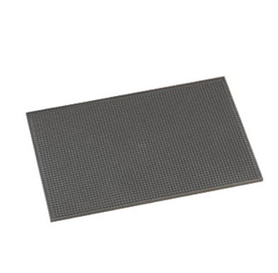 American Metalcraft BLACKBM1218 Bar Mat, 12x18-in, Rubber/Black