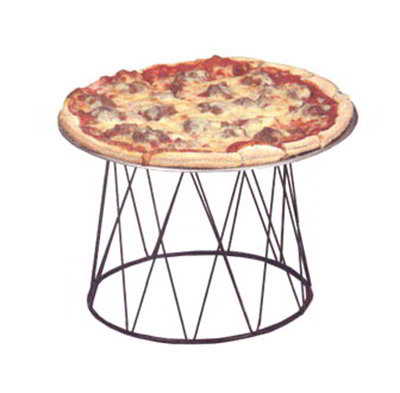 American Metalcraft DPS797 Drum Pizza Stand, Wrought Iron/Black