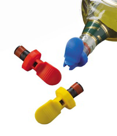 American Metalcraft EBSS311 3-Pack Bottle Stopper, Plastic