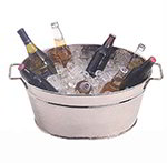 American Metalcraft HMDOB19149 9-in Party Tub, Hammered, Stainless