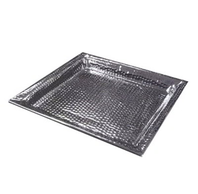 American Metalcraft HMSQ22 Square Serving Tray, 22x22-in, Hammered, Stainless