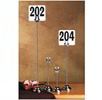 American Metalcraft HPCH6 6-in Number Stand w/ Weighted Base, Stainless