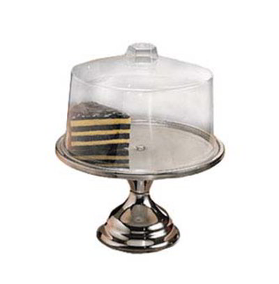 American Metalcraft 19SET 13.5-in Cake Stand w/ Break Resistant Cover, Bright Finish, Clear/Stainless