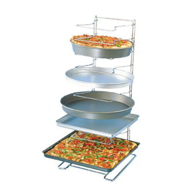 American Metalcraft 19030 Pizza Pan Rack w/ 11-Shelf Capacity For 10-in To 17-in Pan, Chrome/Steel
