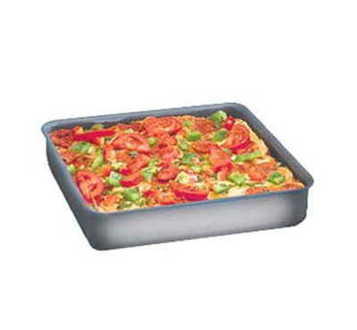 American Metalcraft HCSQ1015 Straight Sided Deep Dish Pan, 1.5-in Deep, 10x10-in, Hardcoat, Aluminum