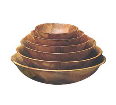 American Metalcraft RWW18 18-in Salad & Pasta Bowl, Keyaki Wood