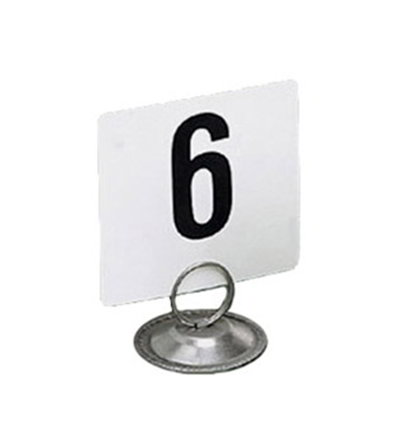 American Metalcraft 450 4-in Square Table Number w/ Numer 1 Through 50, Heavy Plastic, Black/White