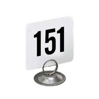 American Metalcraft 4200-CARDS 4-in Square Table Number w/ Numbers 151 Through 200, Plastic, Black/White