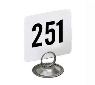 American Metalcraft 4300 4-in Square Table Number w/ Numbers 251 Through 300, Plastic, Black/White
