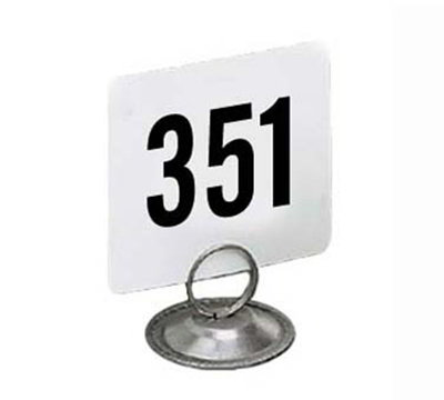 American Metalcraft 4400 4-in Square Table Number w/ Numbers 351 Through 400, Plastic, Black/White