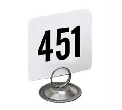 American Metalcraft 4500 4-in Square Table Number w/ Numbers 451 Through 500, Plastic, Black/White