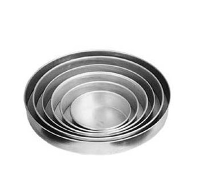 American Metalcraft T80082 8-in Solid Straight Sided Pizza Pan, 2-in Deep, Tin/Steel