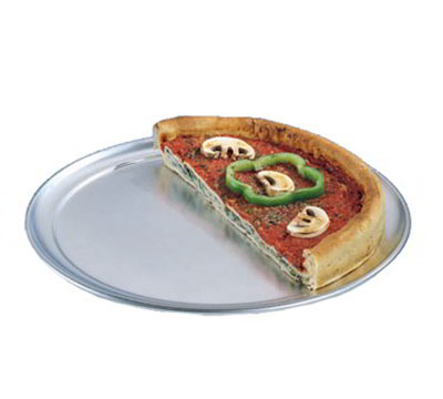 American Metalcraft TP8 8-in Wide Rim Pizza Pan, Solid, Aluminum