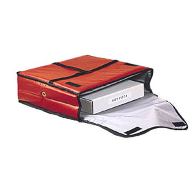 American Metalcraft PB2000 Pizza Delivery Bag w/ Two 20-in Box Capacity & Crossed Carrying Strap, Vinyl/Red