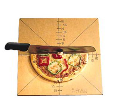 American Metalcraft MPCUT4 Pizza Slicing Board w/ Marking For 4 or 8-Slice, Pressed Wood