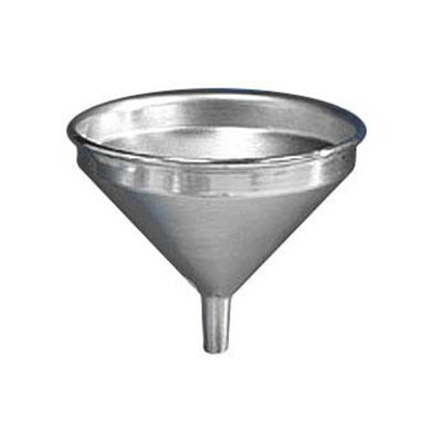 American Metalcraft 913 Funnel w/ 2-qt Capacity & Built In Air Vents, Satin/Aluminum