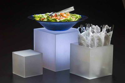 American Metalcraft AC579 3-Piece Riser Set, Acrylic, Frosted