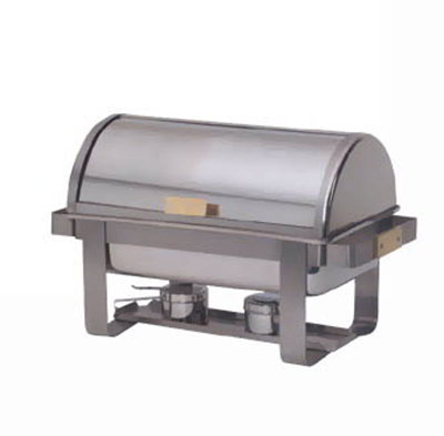 American Metalcraft MACD3 Rectangular Chafer w/ 8-qt Capacity & 2-Fuel Holders, Stainless/Brass